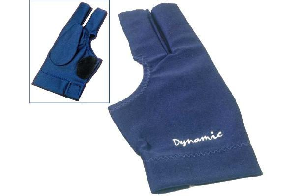 Dynamic Deluxe 2, 3 finger, open, blue, Lycra, leather patch