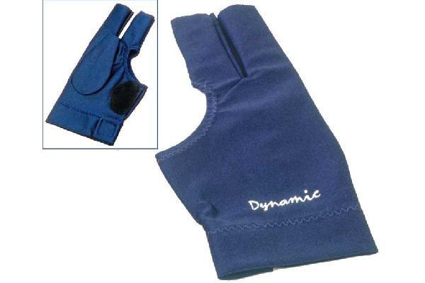 Dynamic Deluxe 2, 3 finger, open, blue, Lycra, leather patch